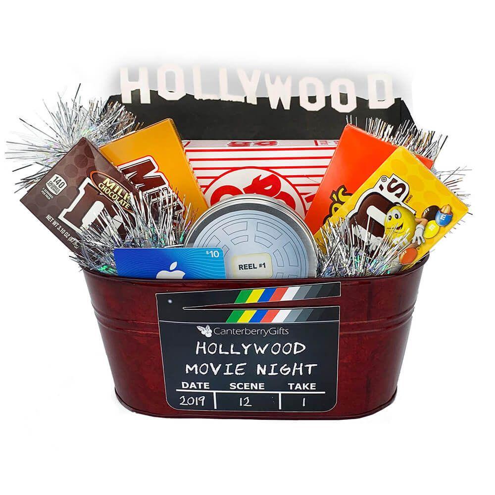 Hollywood movie gift basket small movie basket gift