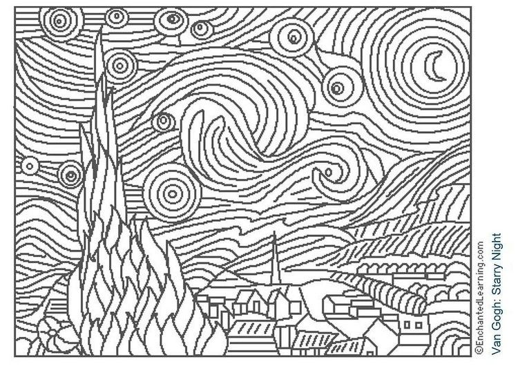 Free Printable Famous Art Colouring Pages For Kids Updated Canada Arts Connect Magazine Famous Art Coloring Famous Art Famous Artwork