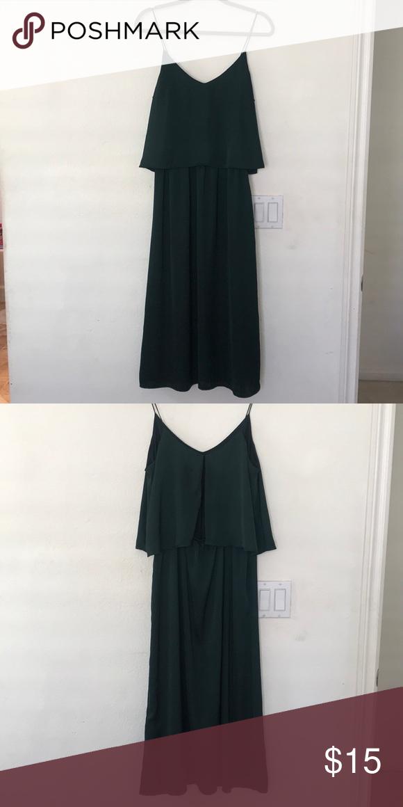 H M Satin Midi Dress Hunter Green H M Satin Midi Dress H M Dresses