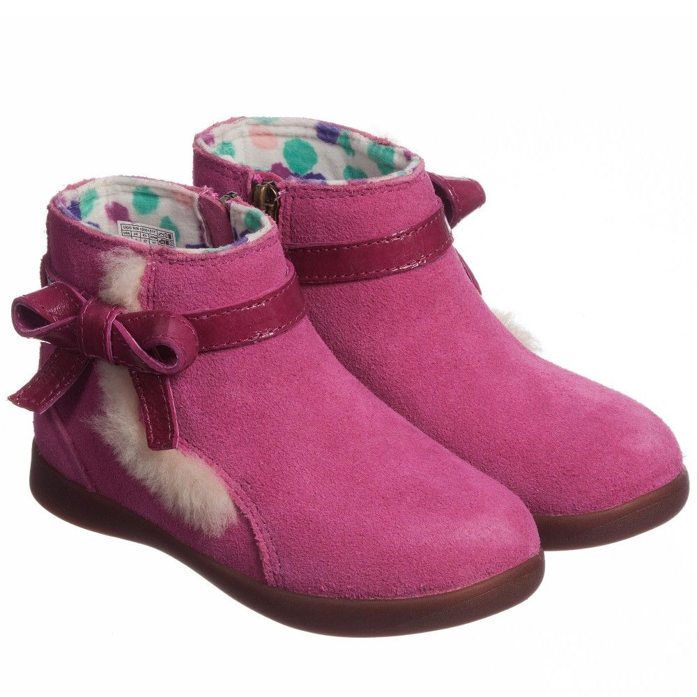 Pink Suede 'Libbie' Ankle Boots , Ugg Australia, Girl