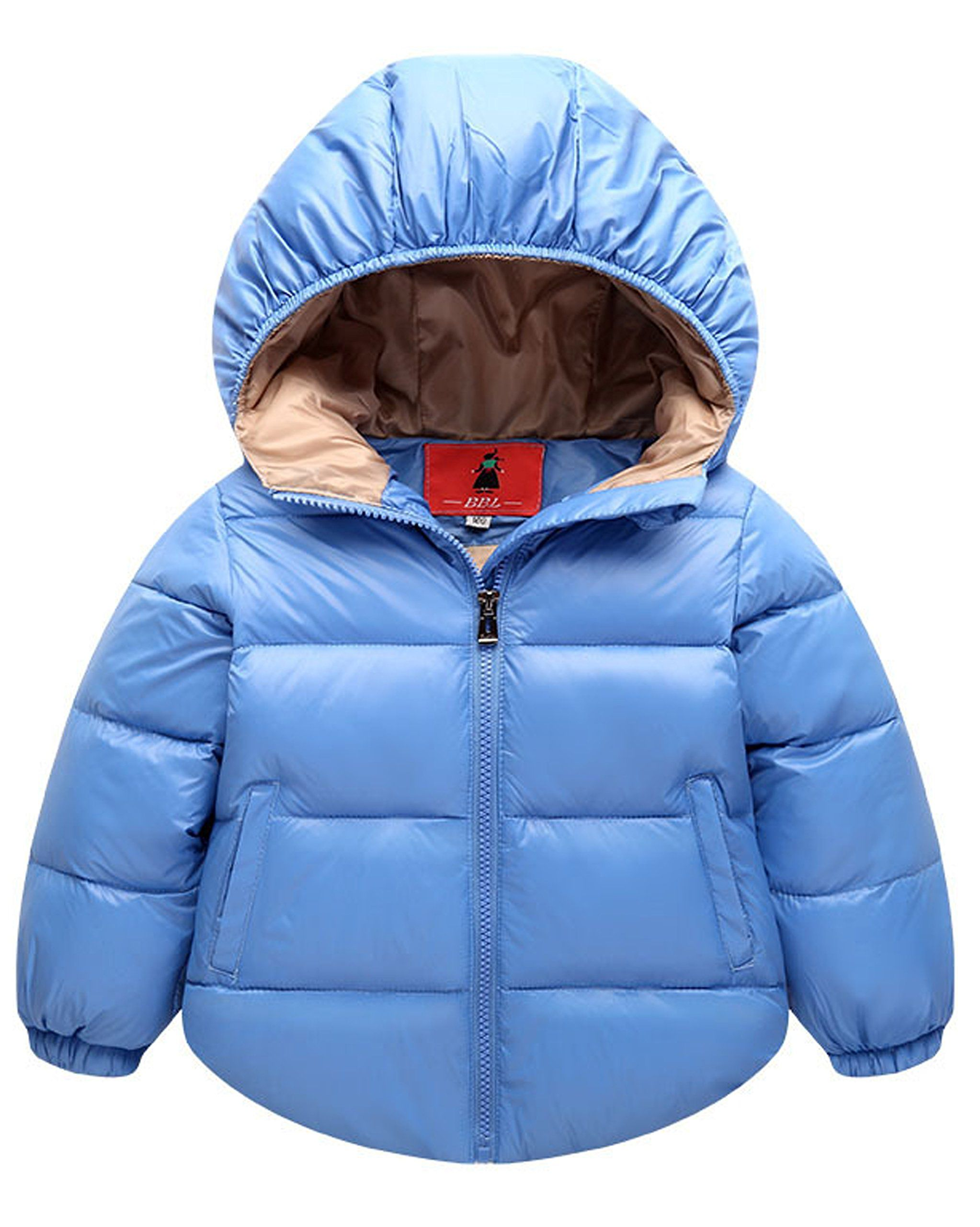 Aiffer Baby Boys Girls Hooded Coats Puffer Outerwear Winter Lightweight Jacket Size 90cm 6 12 Month 10 Kids Winter Coats Girls Girls Winter Coats Boys Jacket