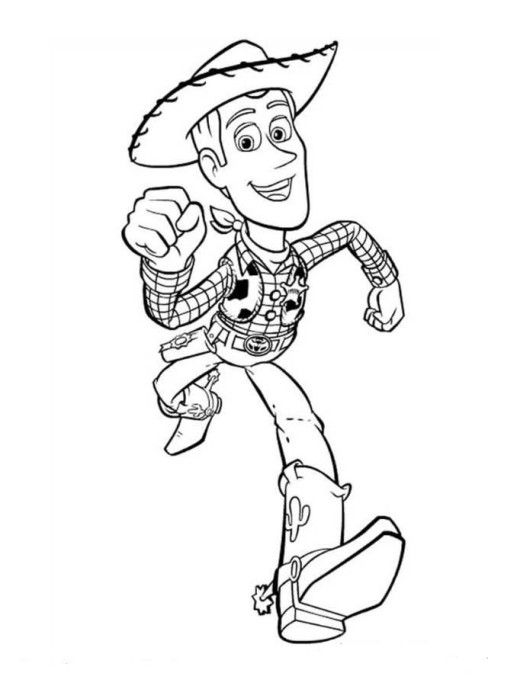 Woody Toy Story Coloring Page Boys Coloring Sheets Cartoon