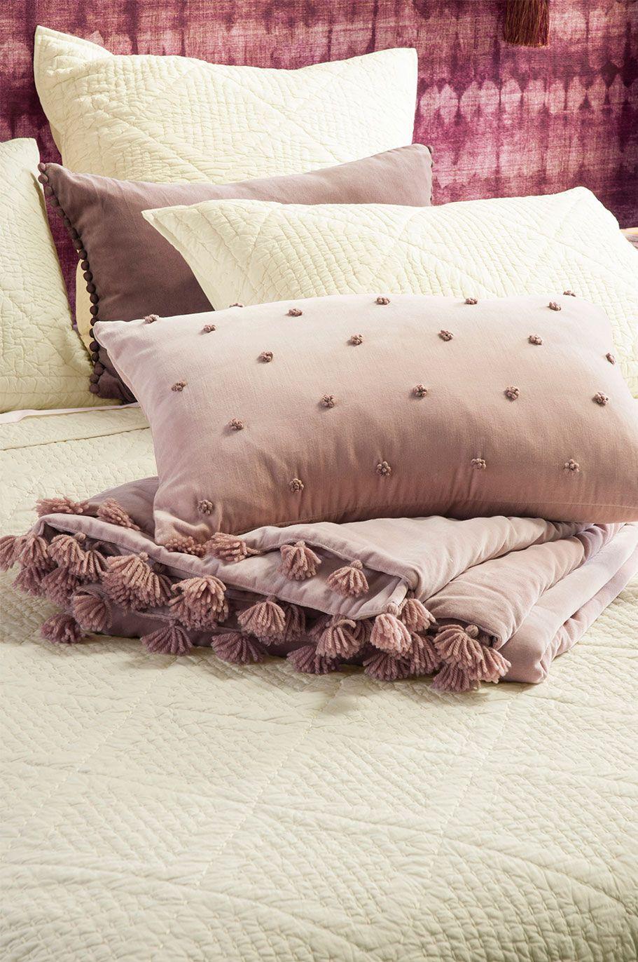 Bianca Lorenne Arancia Comforter Pink pillows, Velvet