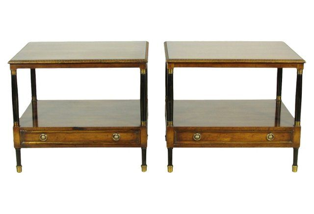 OKL Regency-Style  Lamp Tables PERFECT for living room!!