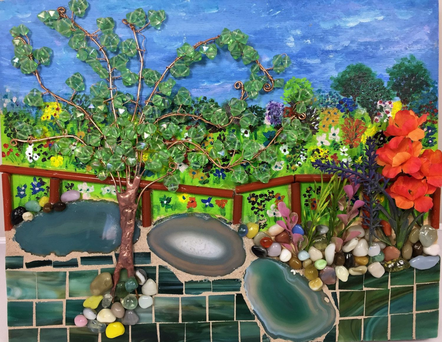 View from the Garden Bridge - Mosaic by SuzanneImagineArt on Etsy