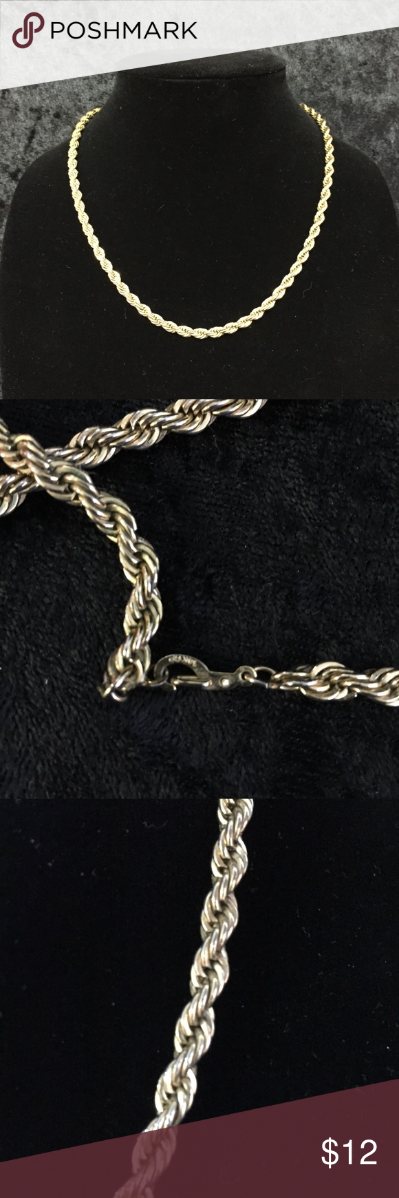 14kgp Vintage Rope Chain A007 Rope Chain Chain Rope Necklace