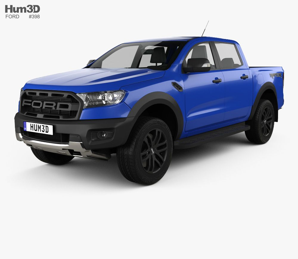 3d Model Of Ford Ranger Double Cab Raptor 2018 Ford Ranger Ford Ranger Double Cab Ford