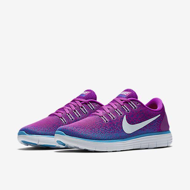 pretty nice 5b54f 0c8b5 ... hot nike free rn distance womens running shoe hyper violet fierce  purple blue lagoon blue tint ...
