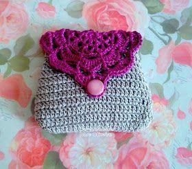 Clutch purse. Crochet chart. Free.