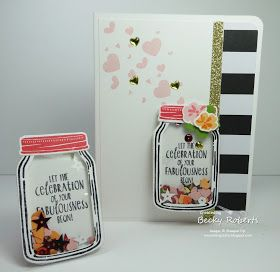 Inking Idaho: Jar of Love Shaker Easel Card