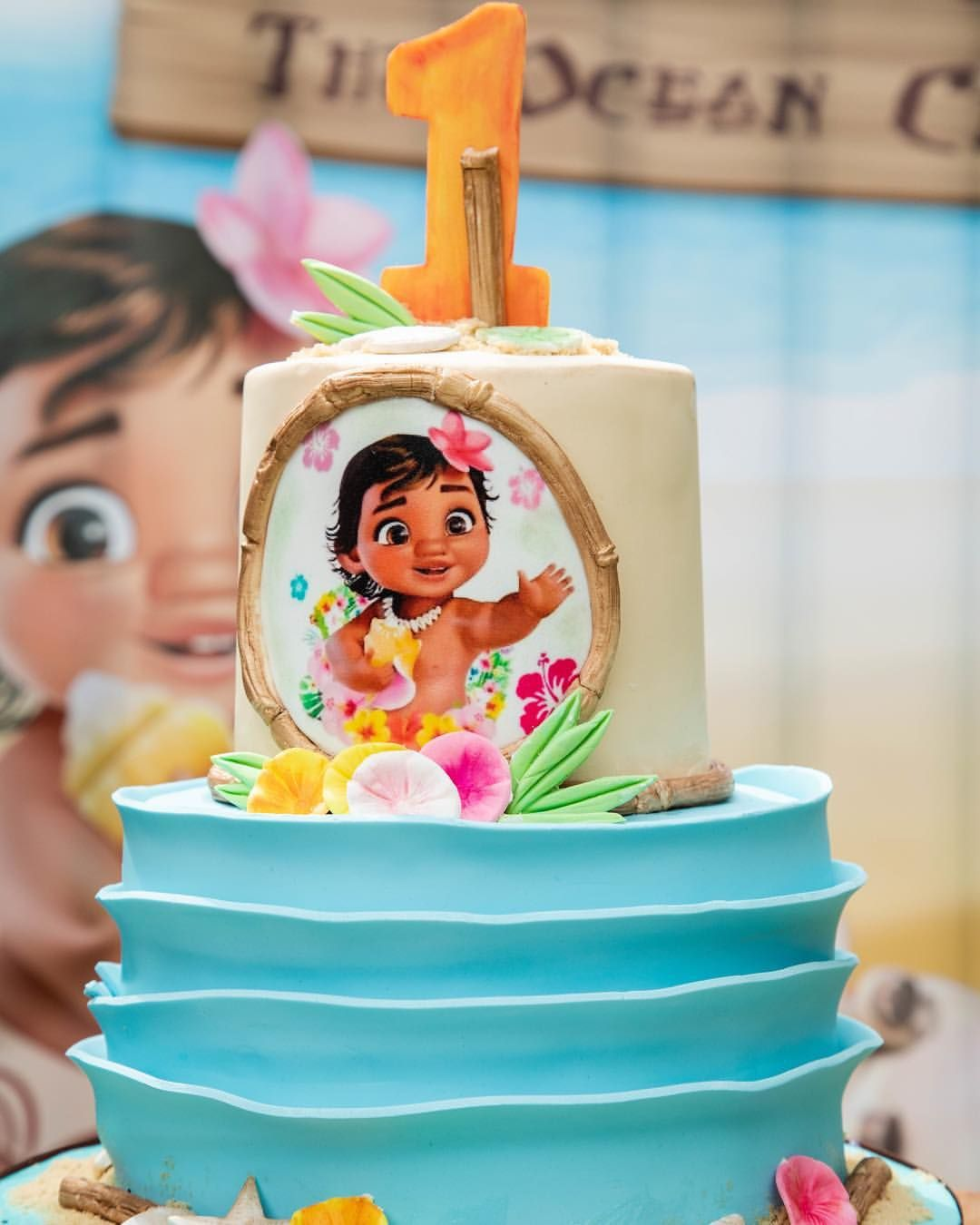 The Ocean Chose You Baby Moana S Birthday Cake By Hanolicakes Sweets By Ameliafi Outdoors Birthday Cake Moana Birthday Cake Birthday Cake Kids