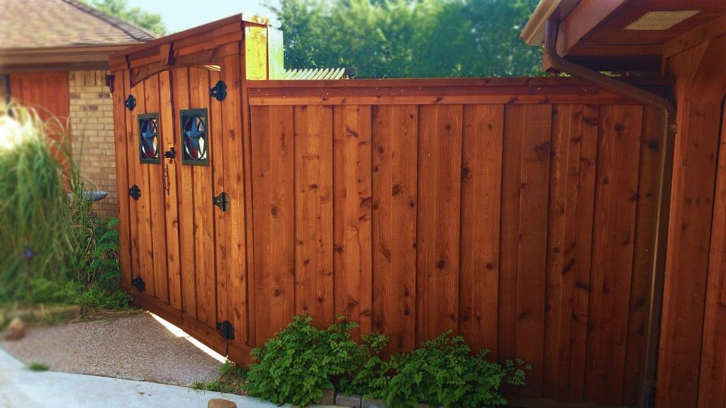 Beautiful Custom Board On Board Cedar Fence With Double