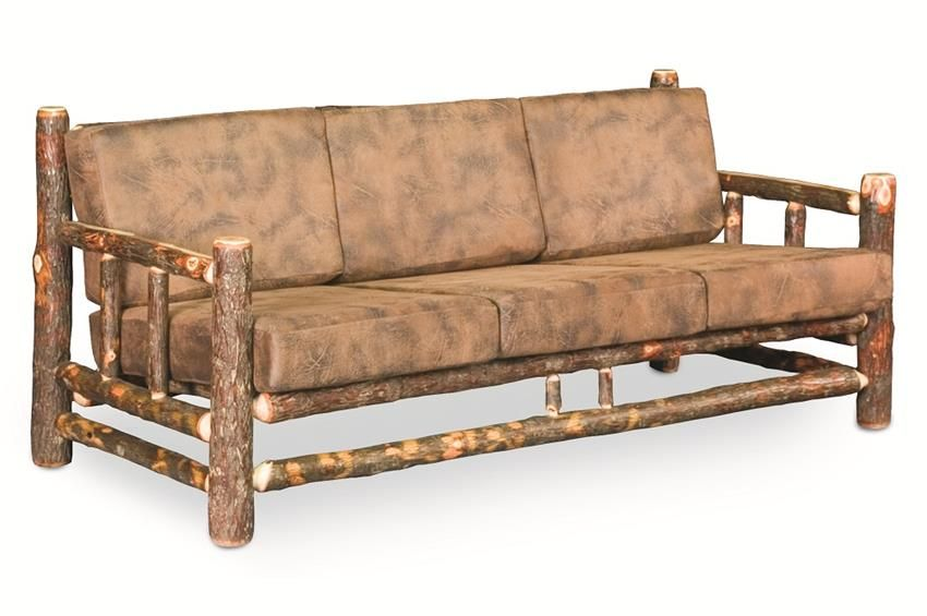 Amish Rustic Hickory Lodge Sofa Brings The Beauty Of Outdoors Inside
