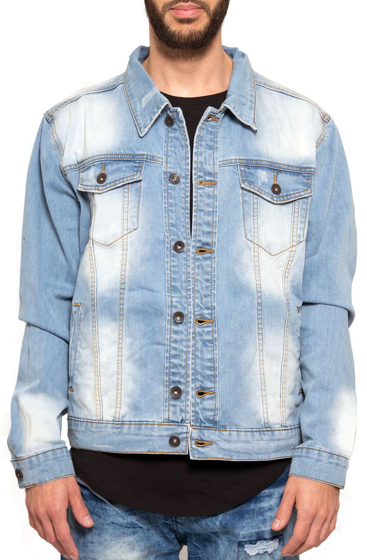 Washed Denim Jacket In 2021 Denim Fashion Denim Jacket Denim Jacket Men [ 1800 x 1180 Pixel ]