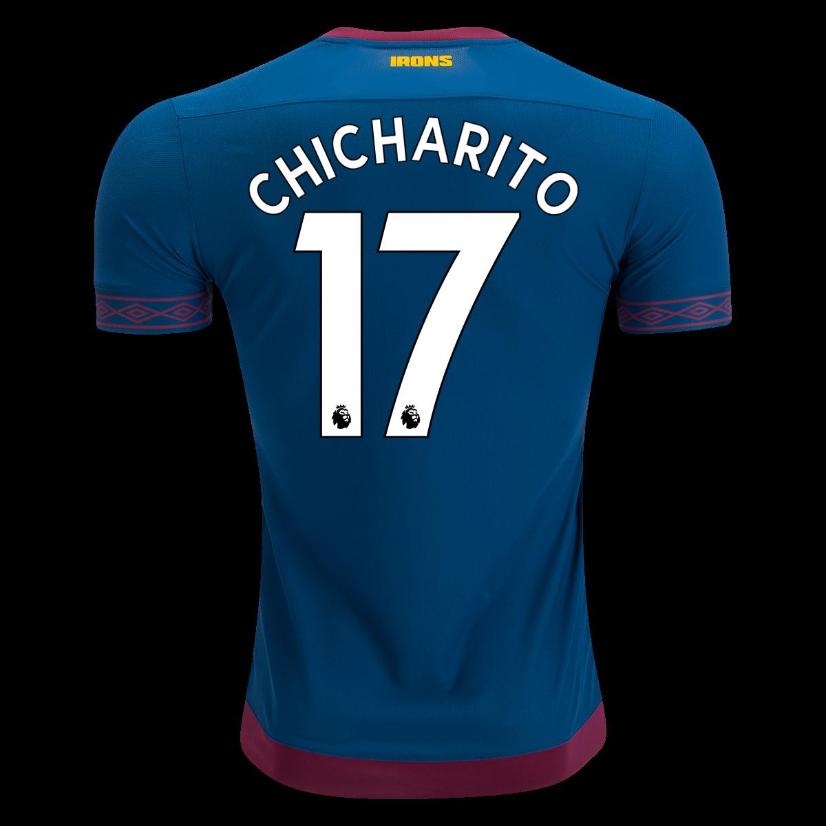 Download Umbro Javier Chicharito Hernandez West Ham Away Jersey 18 ...