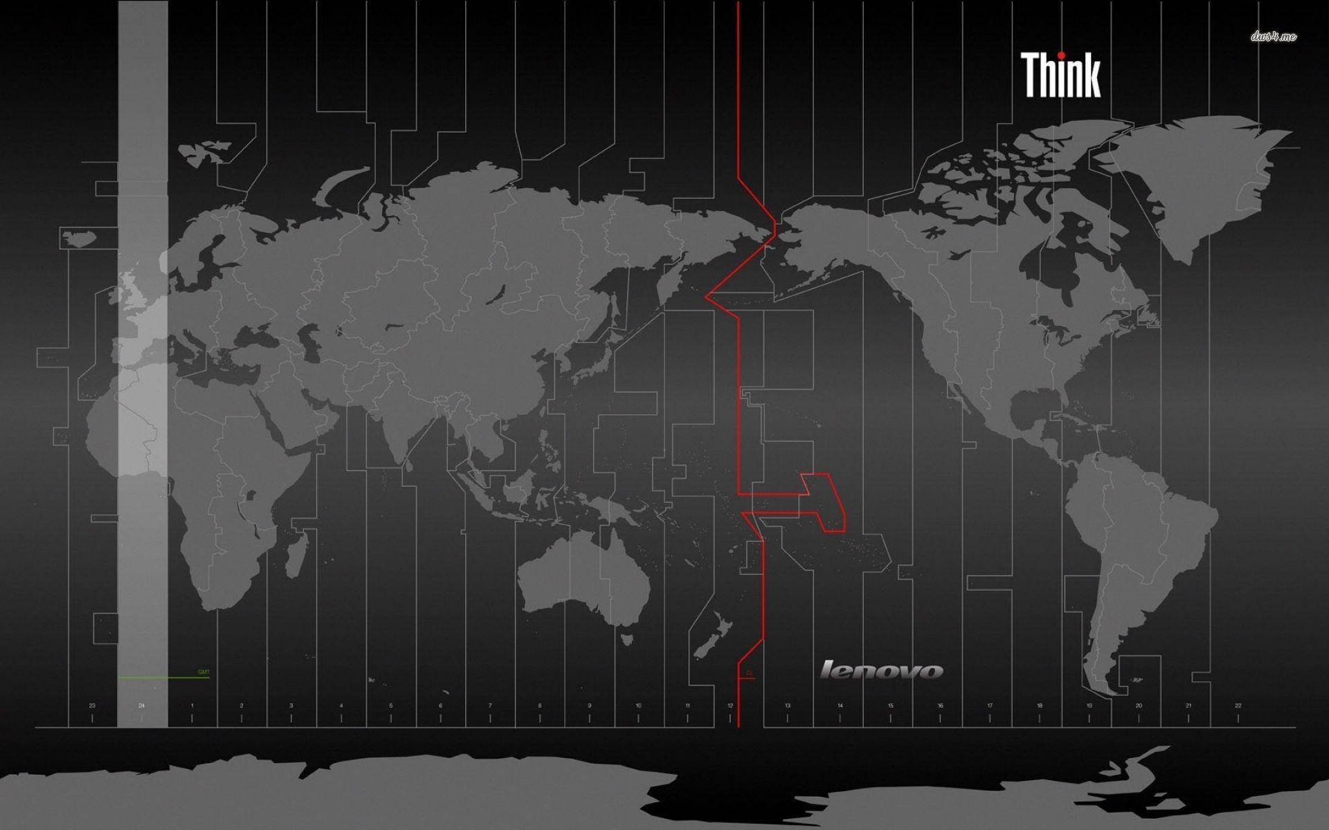 Thinkpad Wallpaper 754162 Lenovo Wallpapers World Map
