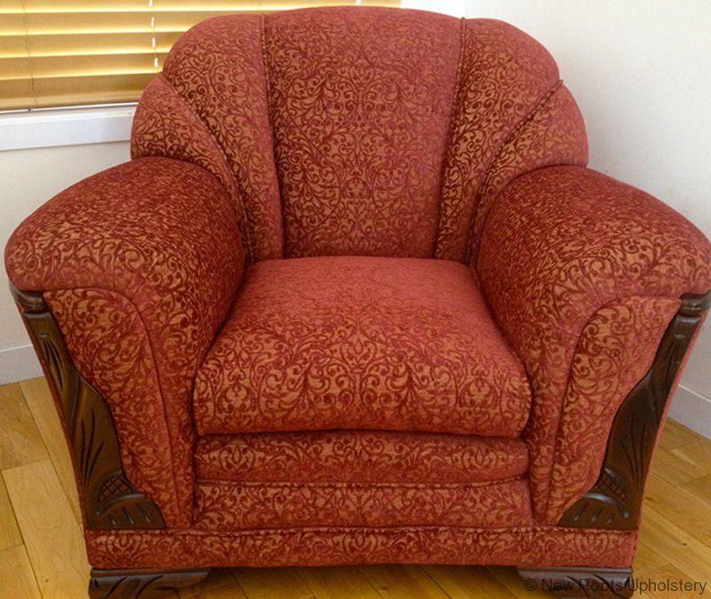 Overstuffed Armchair | Overstuffed armchair, Overstuffed ...