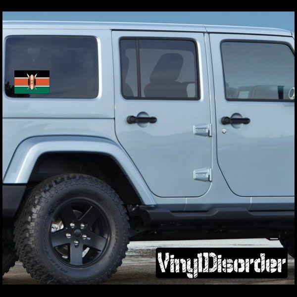 Kenya flag sticker car or wall vinyl decal