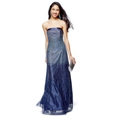 Ellie Makenzie Strapless Glitter Ombré Dress Found At At Jcpenney