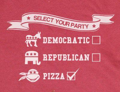 Custom made Funny Teenage Mutant Ninja Turtles Select your party Pizza TMNT  T-Shirt