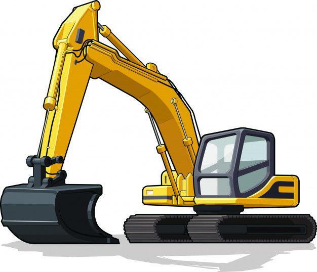 Excavador Vector Premium Premium Vector Freepik Vector Construccion Maquinaria De Construccion Dibujos De Maquinas Maquinas De Construccion