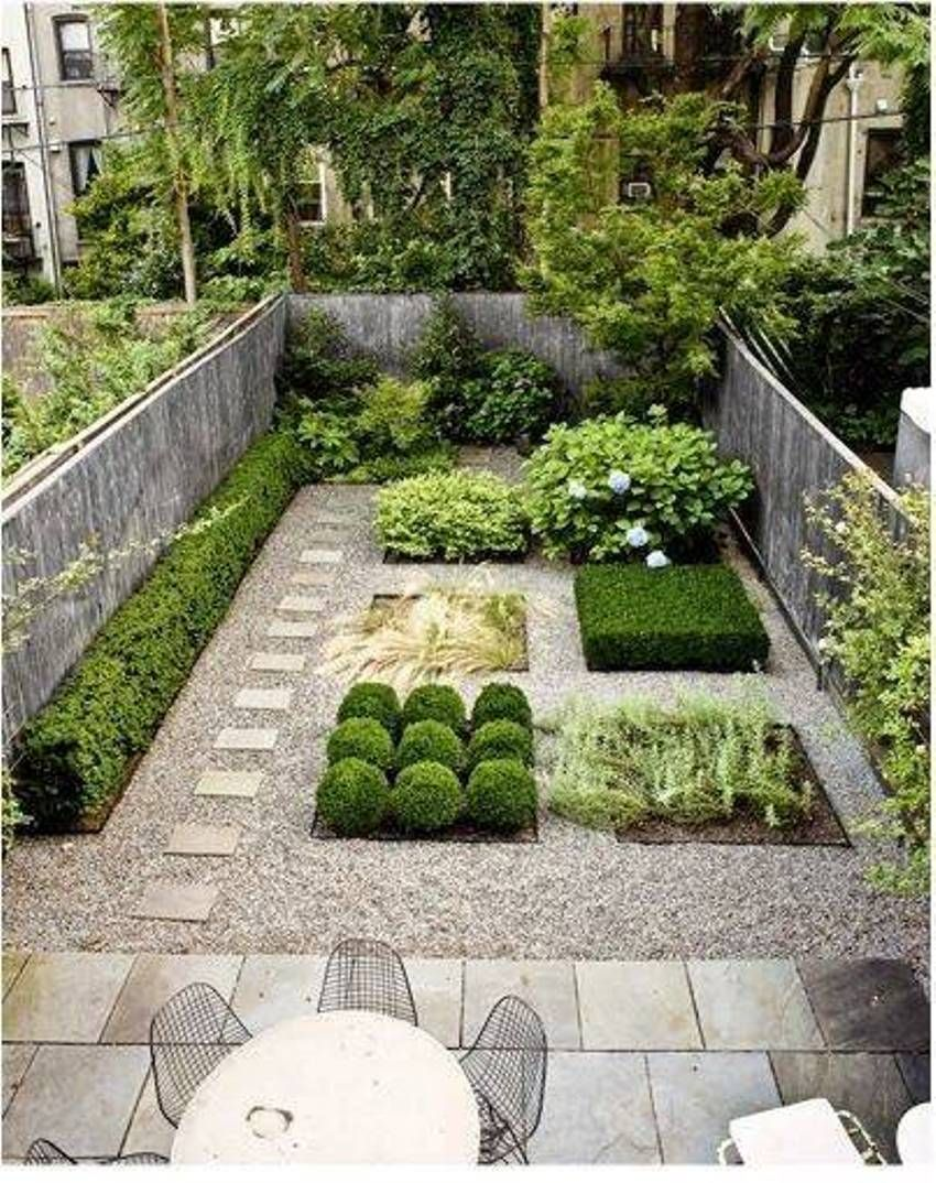 Small Space Landscaping With Shurbs And Pathway | For the Home ...