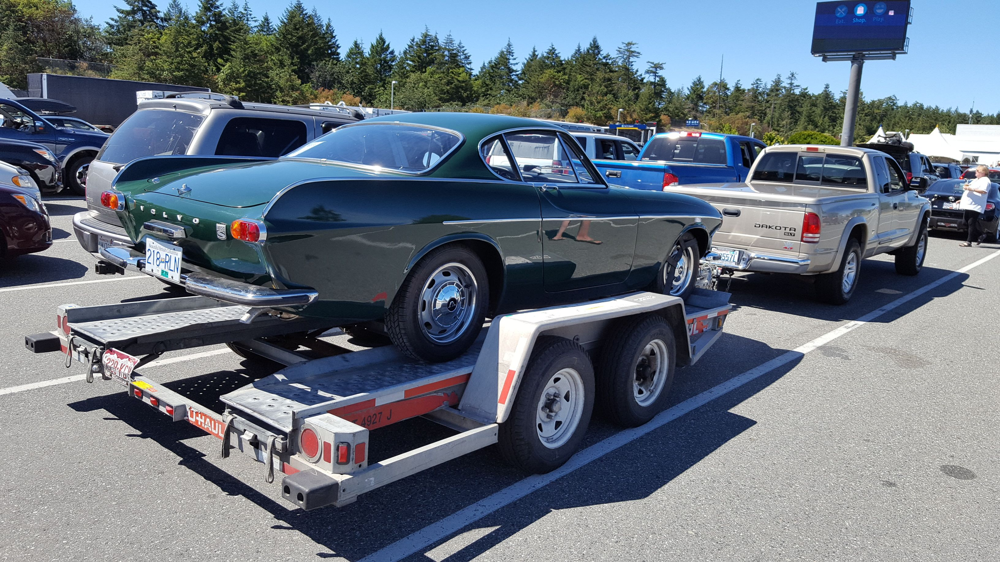 Trailering back my \'67 Dark Green 1800S purchase on Vancouver Island ...