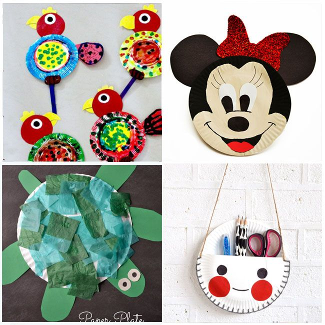 12 Incredibly Cute Paper Plate Crafts Crafts And Diy Pinterest