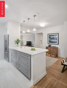 Before & After: A NYC Galley Kitchen Opens Up   Apartment Therapy #kitchendesignnyc  Before & After: A NYC Galley Kitchen Opens Up   Apartment Therapy #kitchendesignnyc #opengalleykitchen