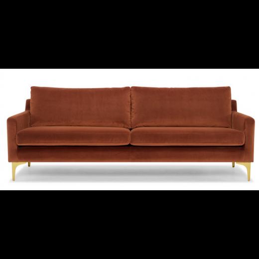 Hugo Rust Velvet Sofa Sofa In 2019 Sofa Sofa Couch Bed Velvet Sofa