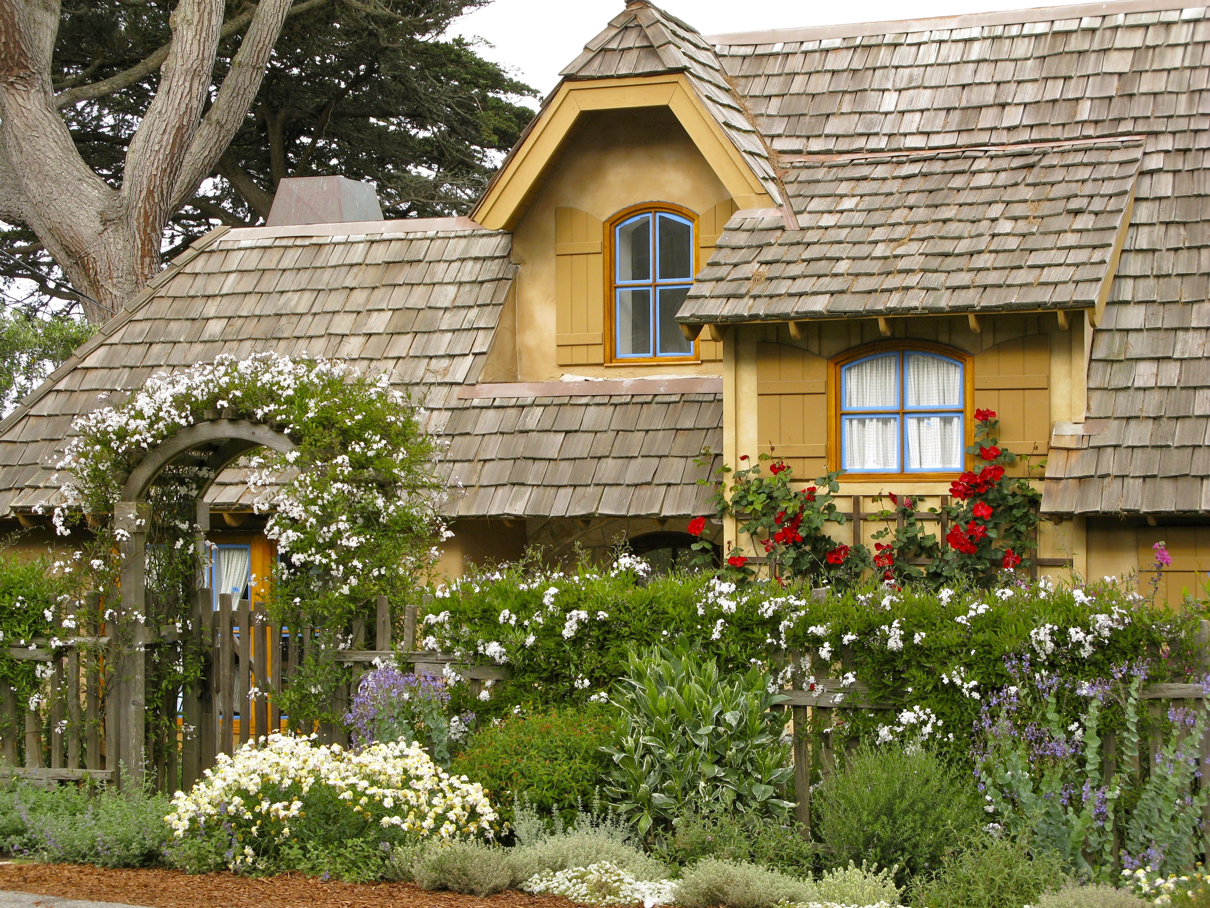 cottage stone pin dormers perfect shutters tree green in home my nantucket spring cottages flowering