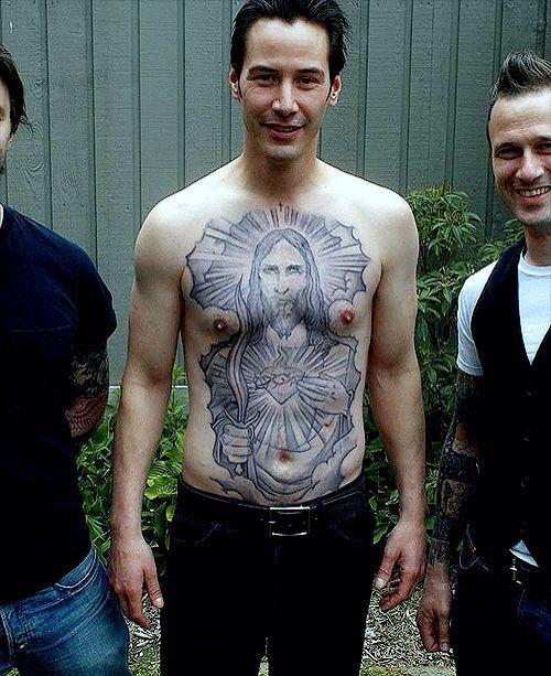John Wicks Tattoo : wicks, tattoo, Keanu, Reeves, Chest, Tattoo