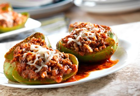 Campbell S Good For You Stuffed Peppers Recipe Substitute Vegetarian Crumbles For The Ground Beef To Make It Vegeta Stuffed Peppers Recipes Healthy Recipes