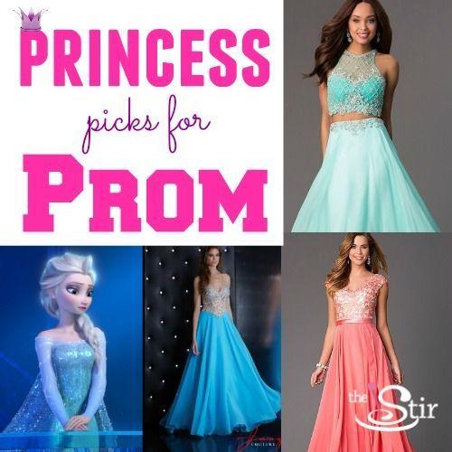 14 Prom Dresses Inspired by Disney Princesses | Princess prom ...