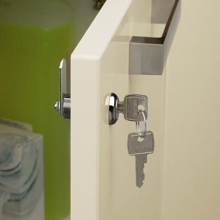 locking kitchen cabinets high table with storage accessories home chrome finish cabinet lock sweety cupboard