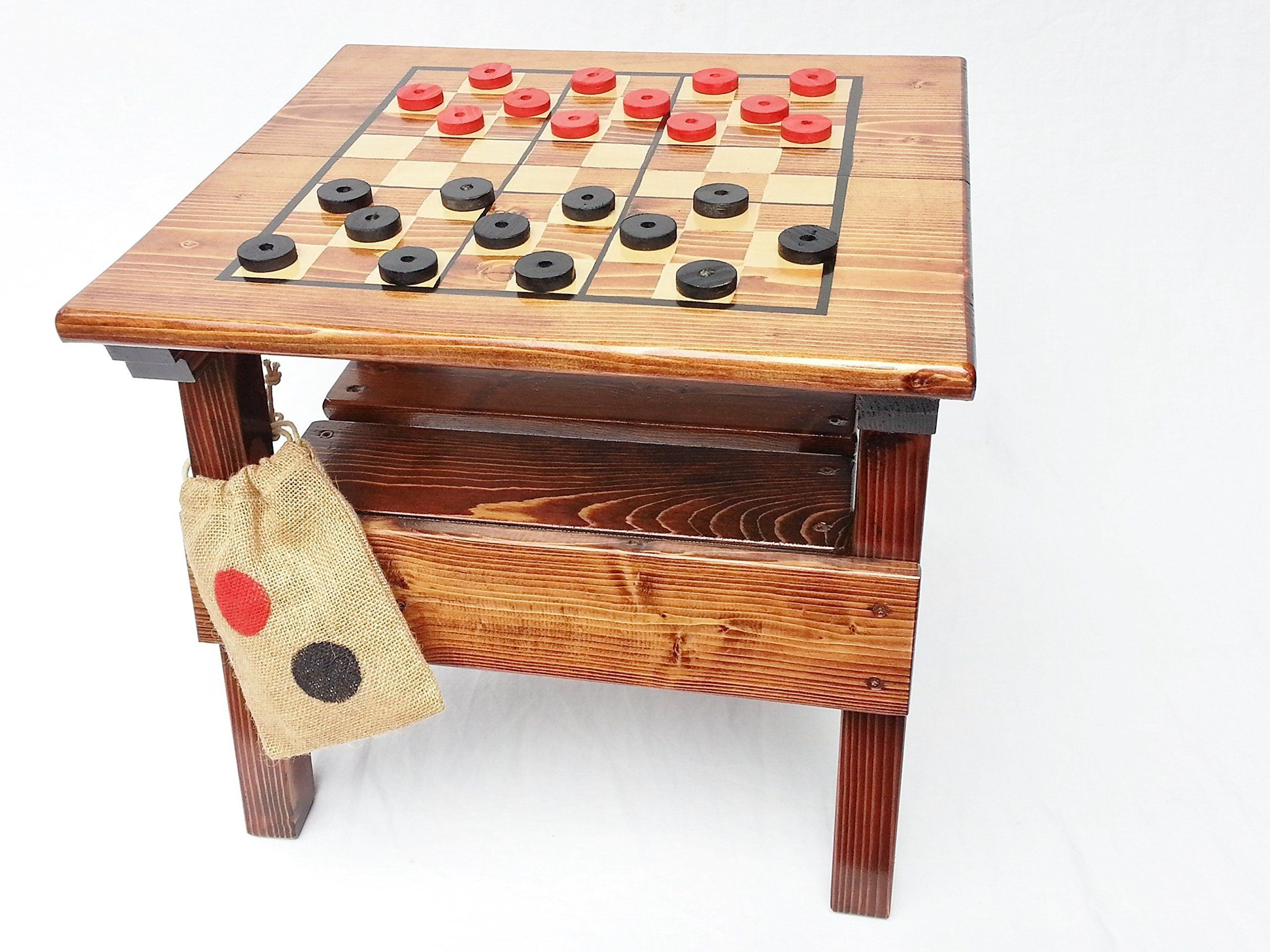 Kids Checkers Game And Activity Table Outdoor Wooden Game. This Happy  Checkers Game Table Is