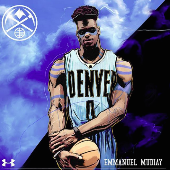 Denver Nuggets Quotes: Emmanuel Mudiay 'Brave Soul' Illustration