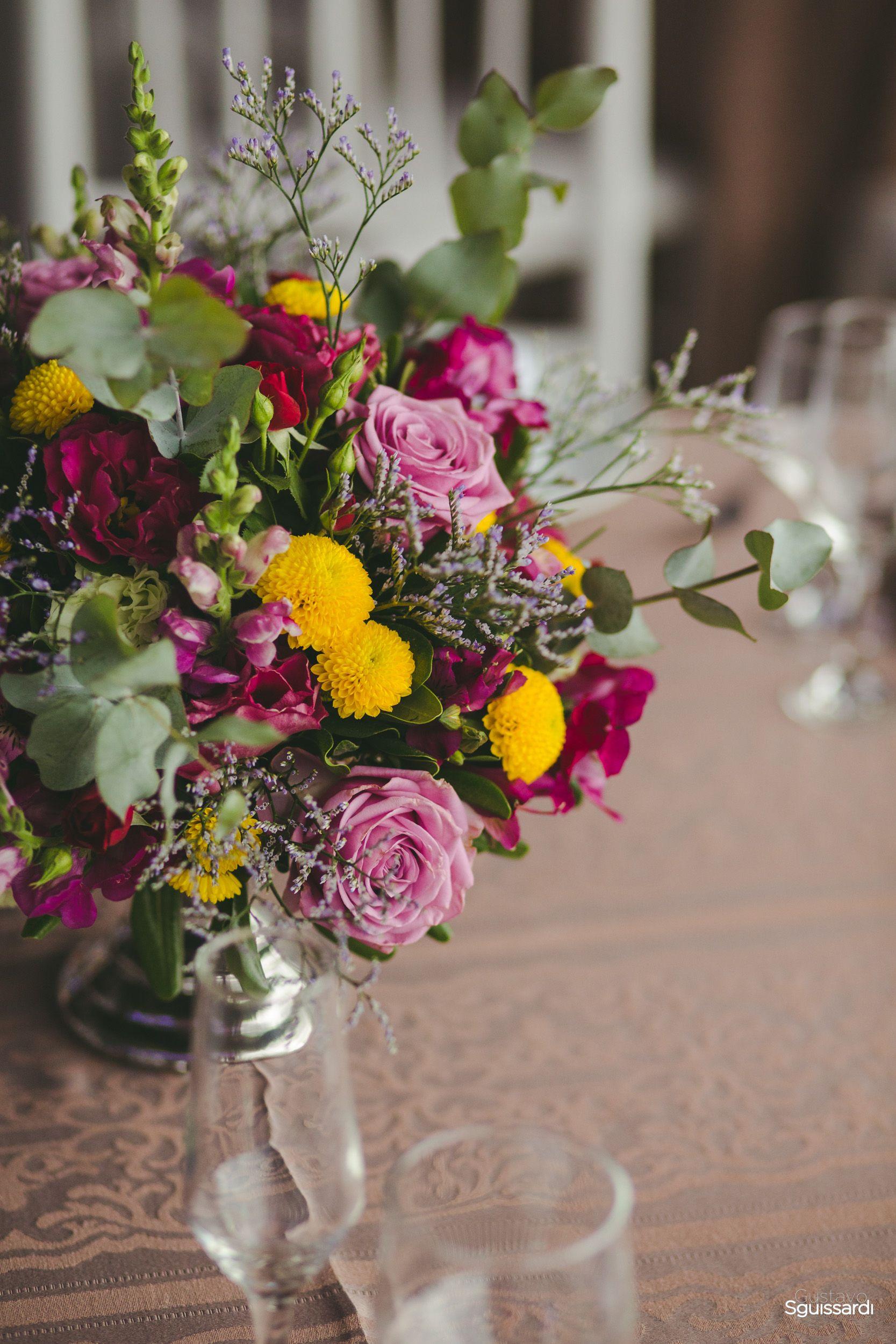 Decoracao Para Casamento Centro De Mesa Em Mix De Flores Lilas