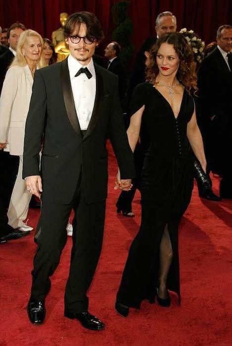 Johnny Depp and Vanessa Paradis....