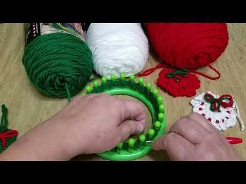 Photo of How to Loom Knit a Mini Christmas Wreath, tutorial, step by step, instructions -…