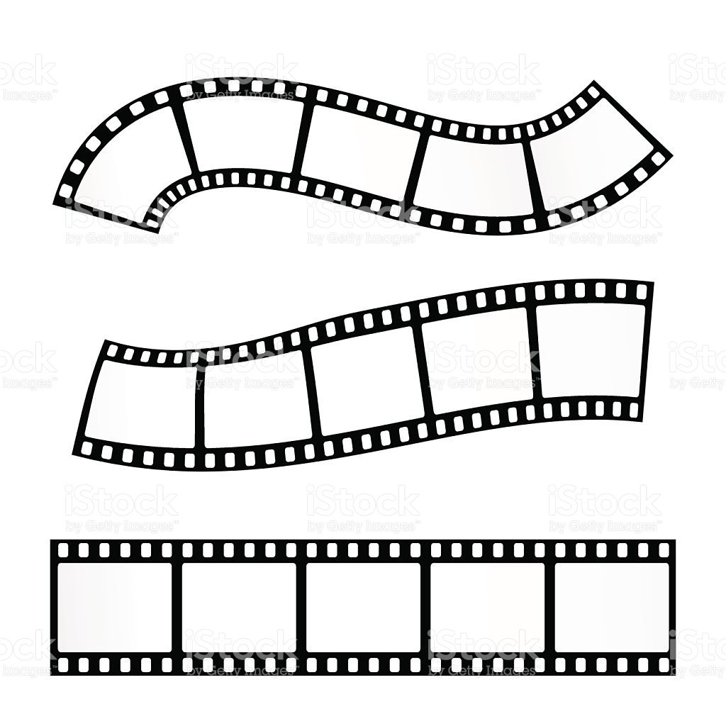 Vector realistic illustration of film strip on white background ...
