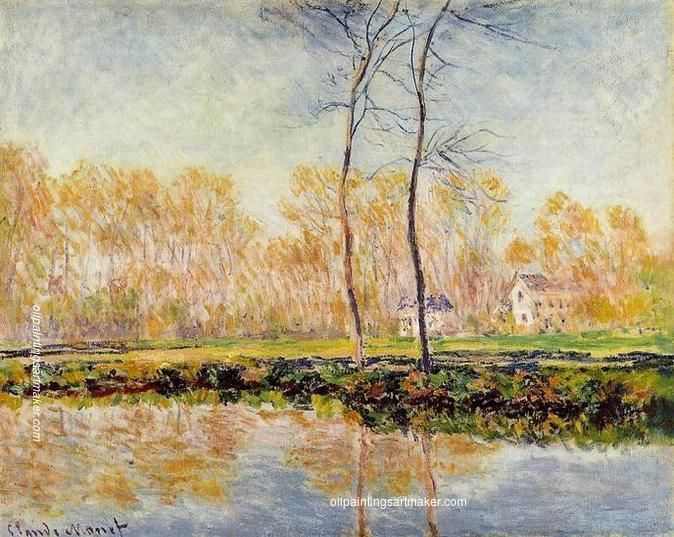 Claude Monet The Banks of the River Epte at Giverny, 1887 painting, painting