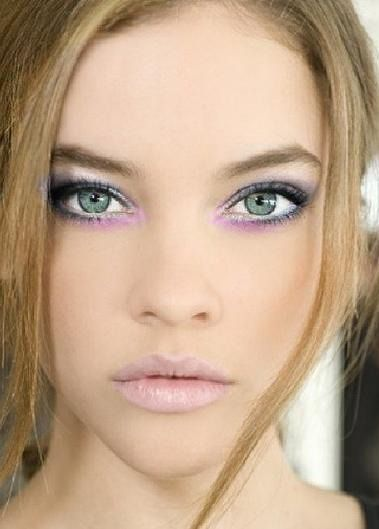 """Pastel makeup.  This is a little """"crazy"""", not something you could wear day-to-day, but still pretty!"""
