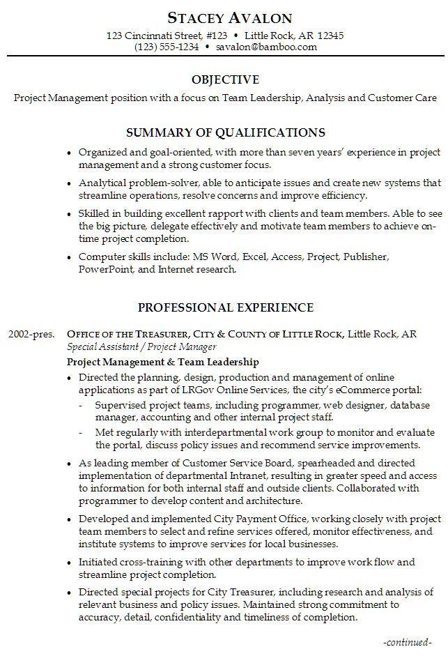 Resume Templates Leadership Qualities leadership