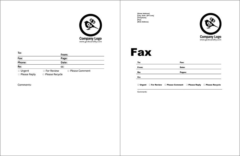 Free Fax Cover Sheet For Microsoft Office Google Docs  Adobe