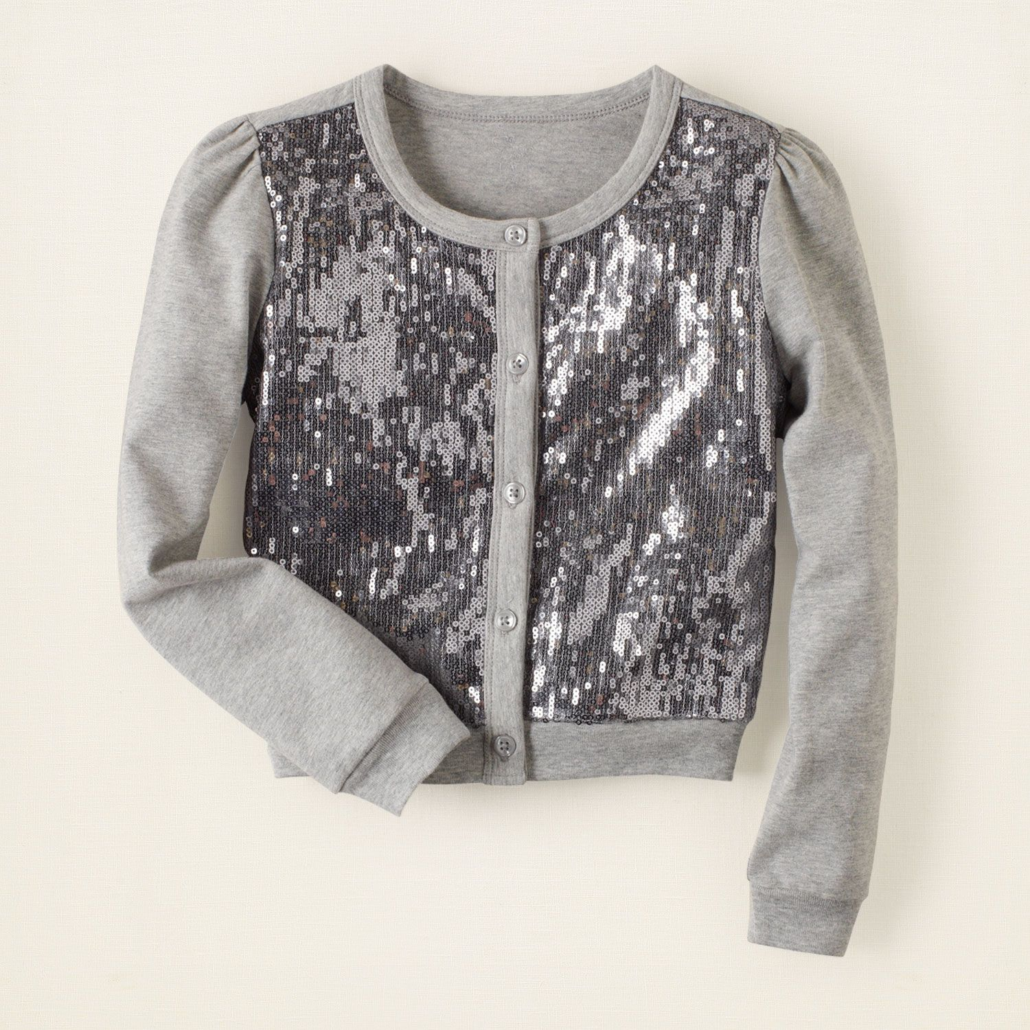 girl - sweaters - sequin jersey cardigan | Children's Clothing ...