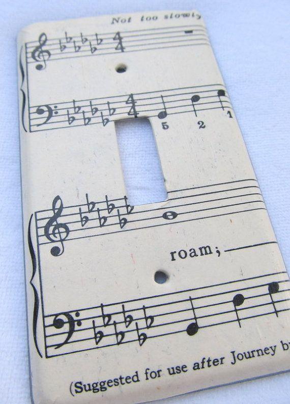Vintage sheet music ROAM metal vintage light by TackledAndShackled ...