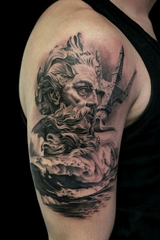 Nautical Tattoo Poseidon And Ship: Image By Christine On Ink & Piercings