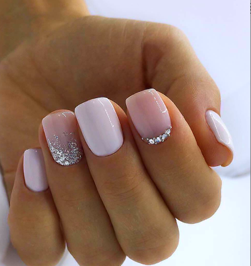 White Acrylic Nails White Acrylic Nails Glitter Gel Nail Designs Short Gel Nails