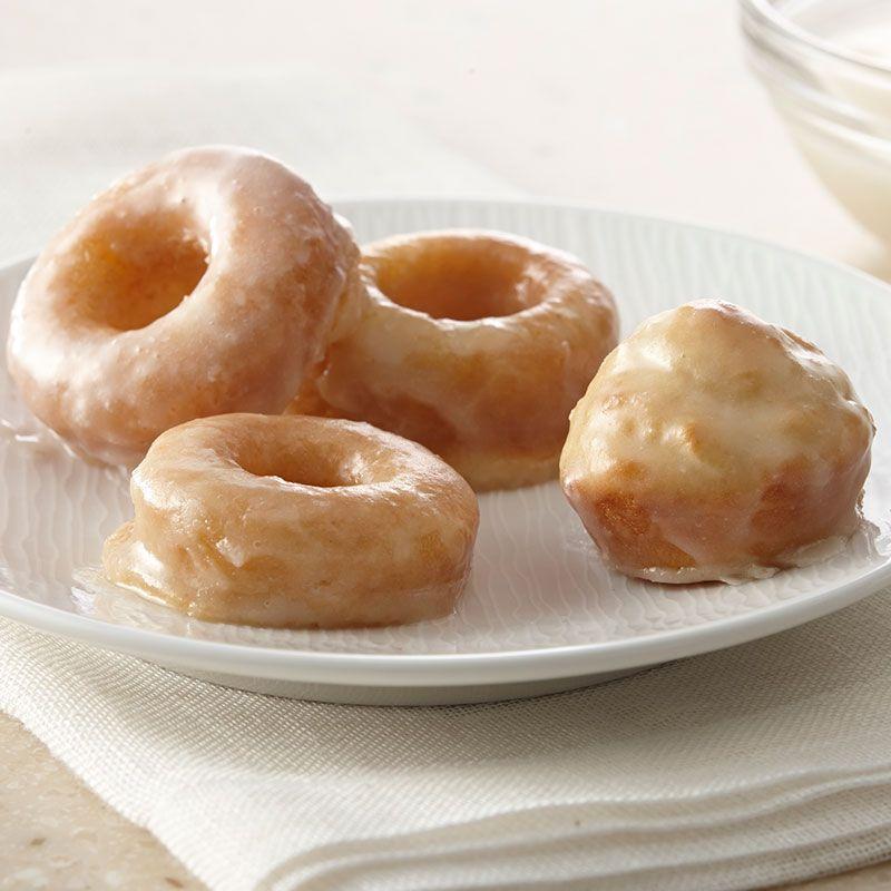 Mini Baked Donuts with Vanilla Glaze | Recipe | Donuts ...
